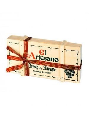 Turron dde Alicante 200 grs en caja de madera