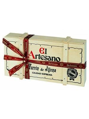 Turron de Jijona artesano 200grs en caja de madera