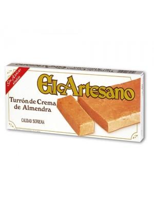 Turrón de crema de almendras 200 gr. Sin Azúcar - El Artesano
