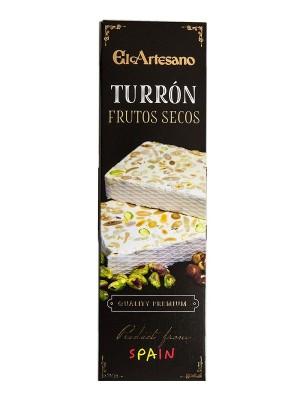 Turrón de Frutos Secos en barritas de 70 gr. - El Artesano