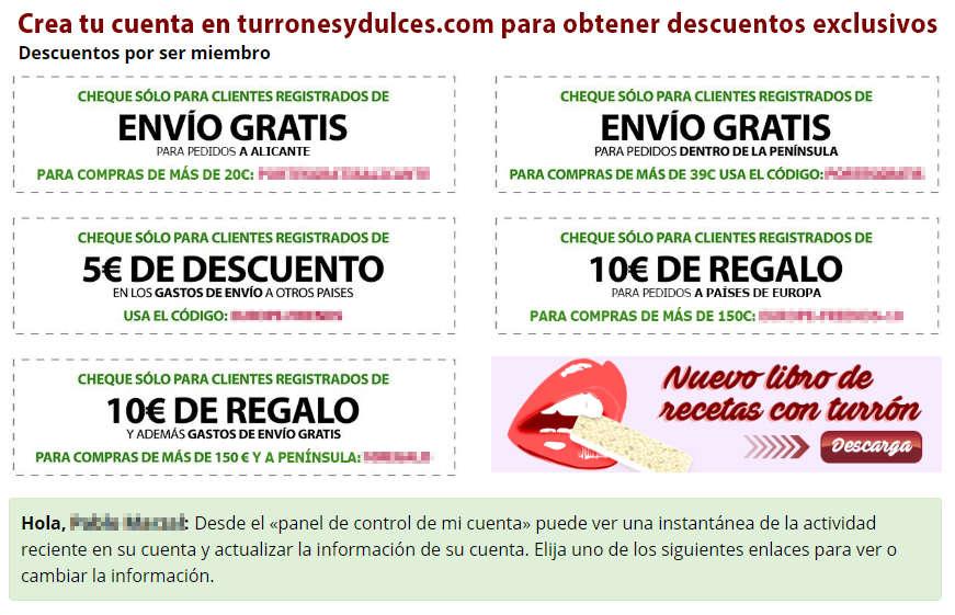 Cupones de Turronesydulces.com