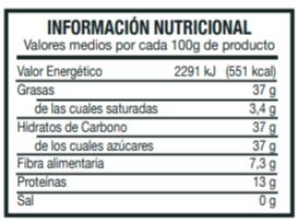 Información Nutricional Turrón Blando Jijona