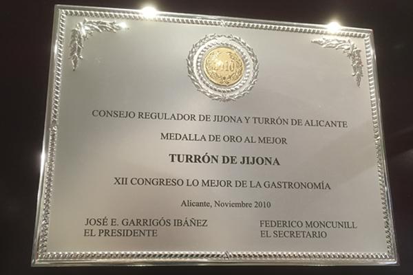 Premio al mejor Turrón de Jijona El Abuelo