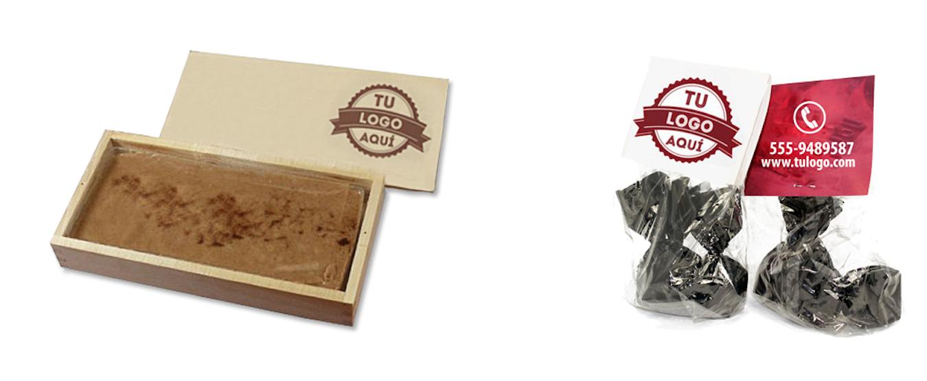 Chocolates personalizados con logo