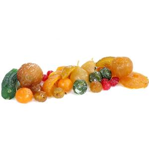 Fruta escarchada o glaseada