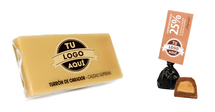 Turrones con Logo personalizado
